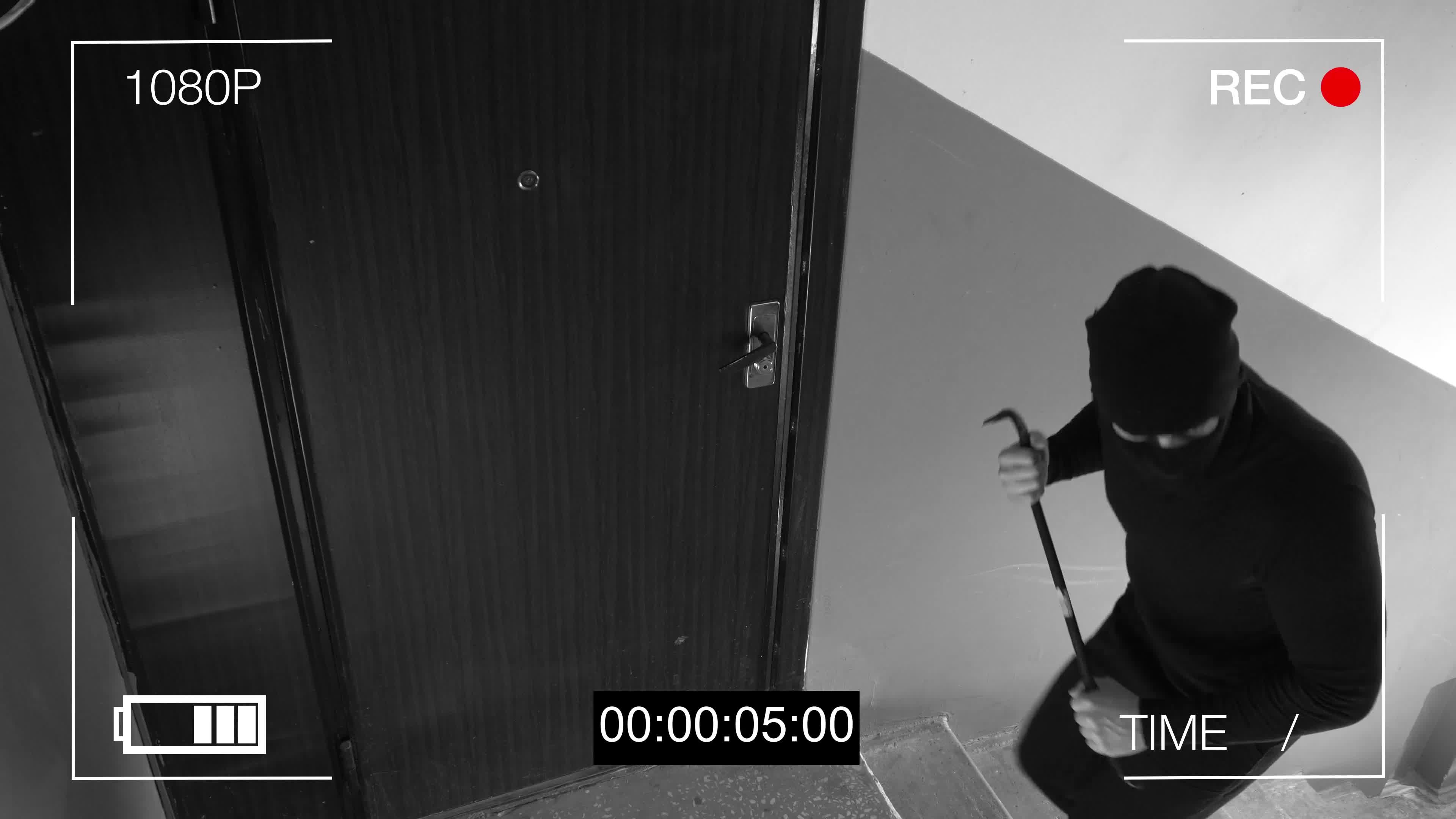 voleur caméra sécurité intrusion
